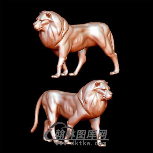 狮子立体圆雕图(YSZ-001)