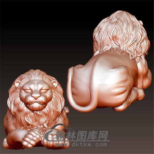 狮子立体圆雕图(YSZ-002)