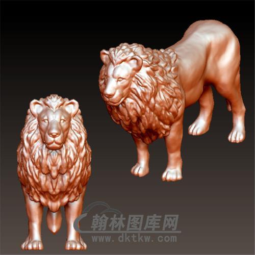 狮子立体圆雕图(YSZ-006)