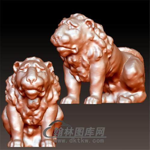 狮子立体圆雕图(YSZ-007)