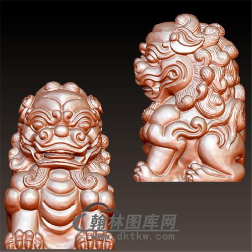 狮子立体圆雕图(YSZ-008)