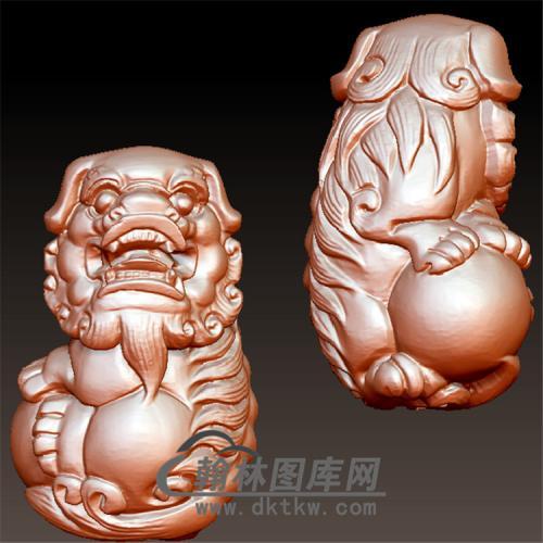 狮子立体圆雕图(YSZ-009)