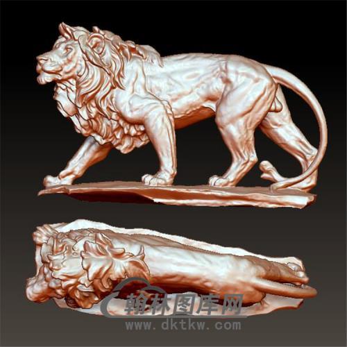 雄狮模型立体圆雕图(YSZ-017)
