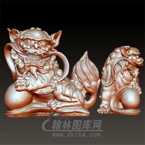 狮子立体圆雕图(YSZ-018)