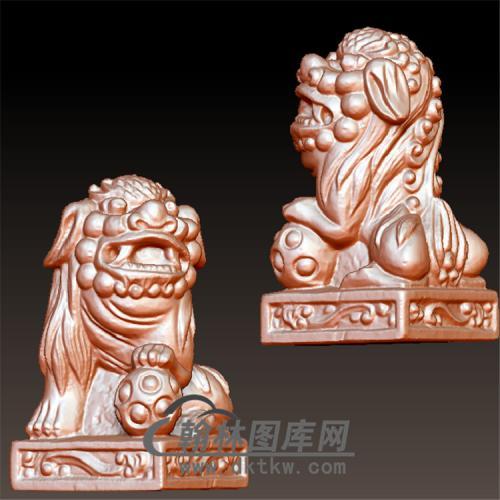 立体狮子立体圆雕图(YSZ-022)