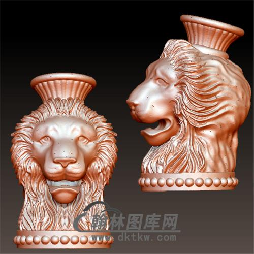 狮子头立体圆雕图(YSZ-027)