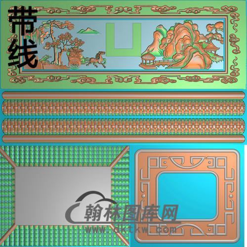 平安山水精雕图(GHH-048)