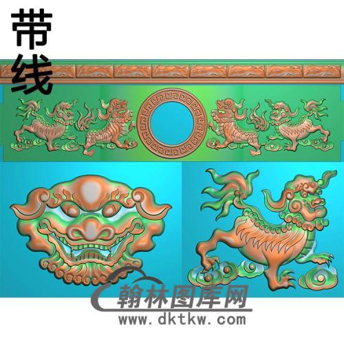 狮子寿盒精雕图(GHH-058)
