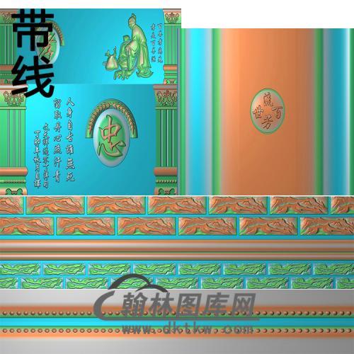寿盒孝精雕图(GHH-064)