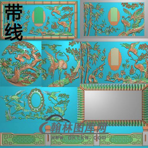松鹤延年精雕图(GHH-067)