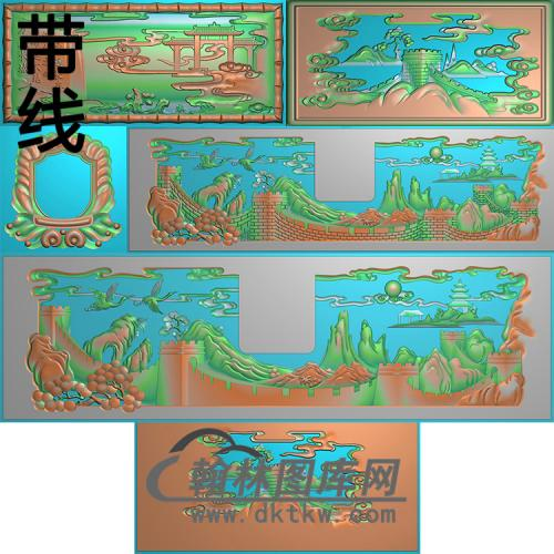 万里长城精雕图(GHH-070)