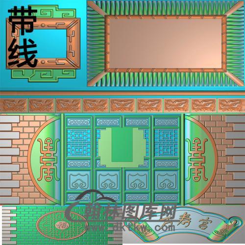 万寿宫精雕图(GHH-071)