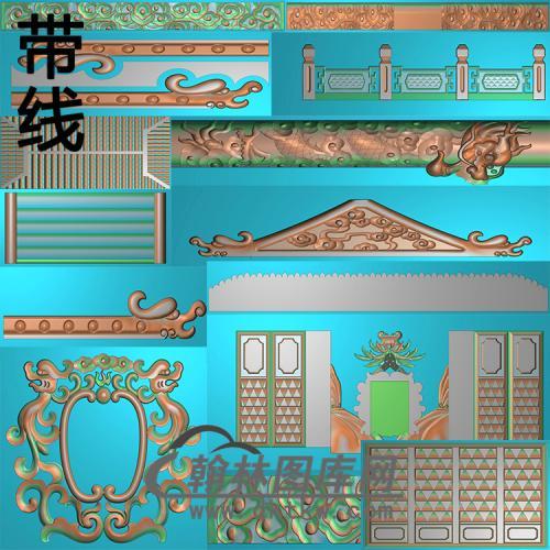 息园殿精雕图(GHH-073)