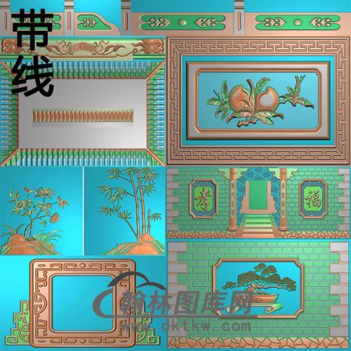 孝福宫精雕图(GHH-075)