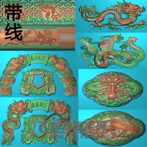 新龙腾盛世精雕图(GHH-080)