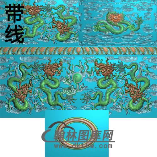 真龙护主精雕图(GHH-090)