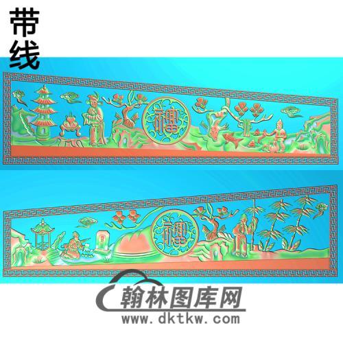 二十四24孝棺材侧板带线精雕图(GC-002)