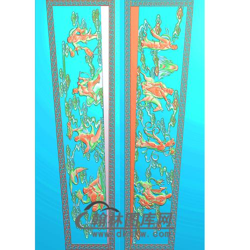 八仙棺材侧板精雕图(GC-004)