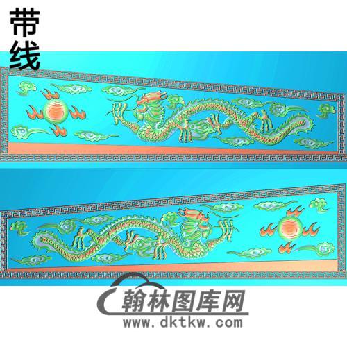 龙棺材侧板精雕图(GC-007)