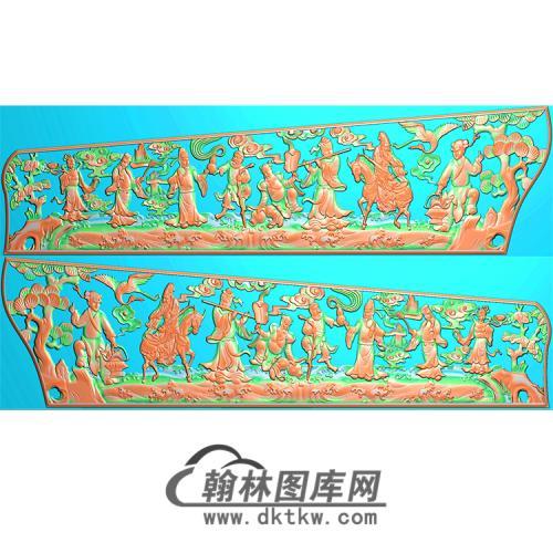 八仙棺材侧板精雕图(GC-019)