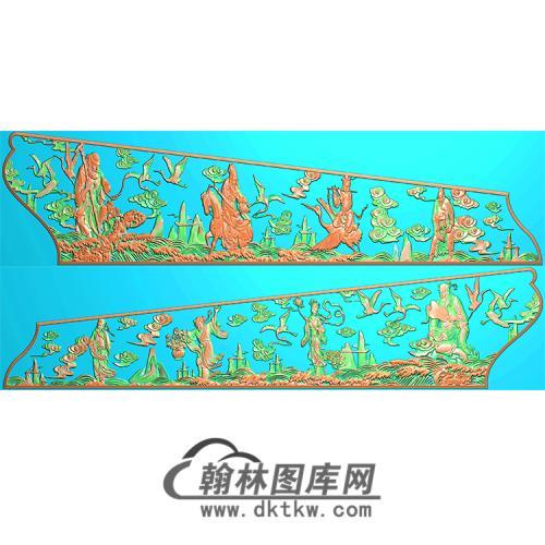 八仙棺材侧板精雕图(GC-020)
