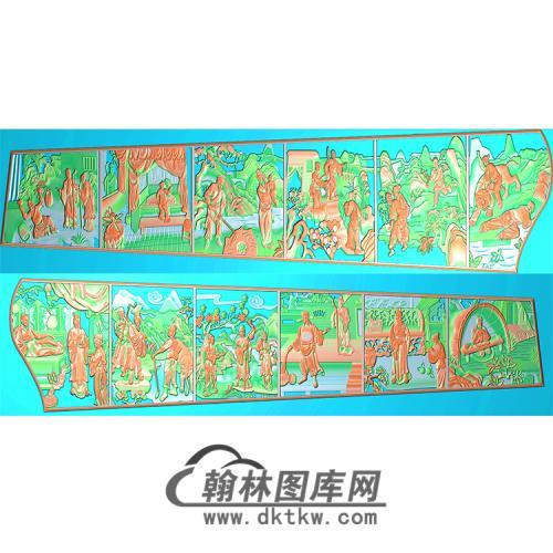 二十四孝棺材板精雕图(GC-021)
