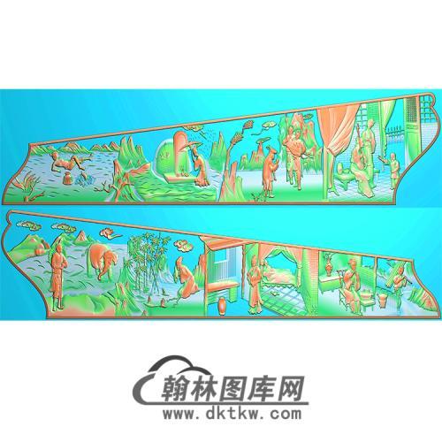 二十四孝棺材板精雕图(GC-022)