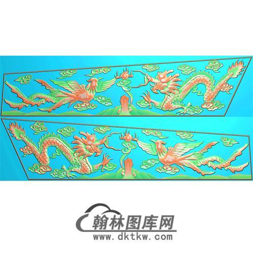 龙凤棺材侧板精雕图(GC-027)