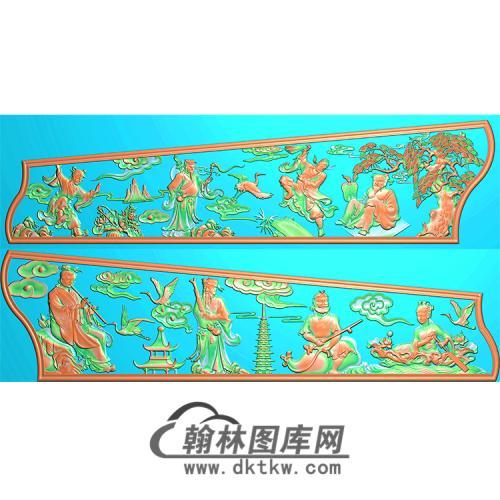 八仙棺材侧板精雕图(GC-030)