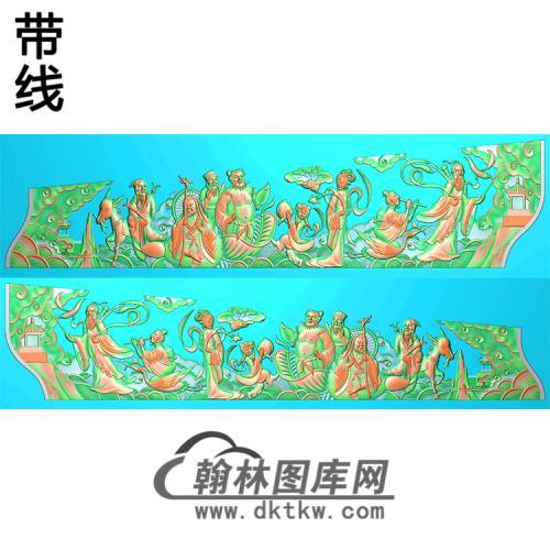 八仙棺材板2精雕图(GC-038)