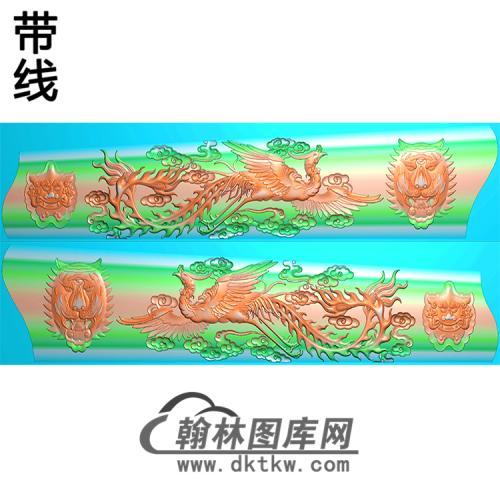 凤棺材精雕图(GC-045)