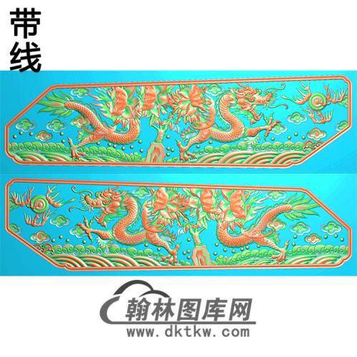 棺材板 龙 精雕图(GC-054)