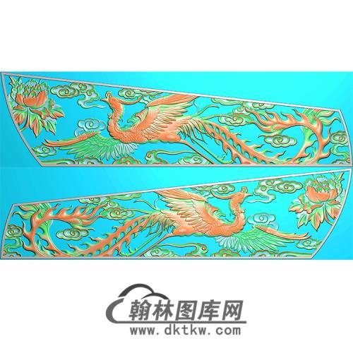 凤凰棺材侧板精雕图(GC-105)