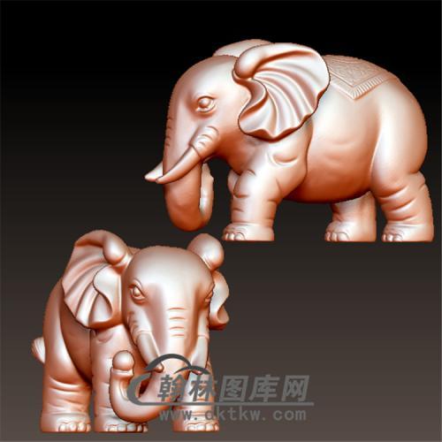 大象立体圆雕图(YBF-004)