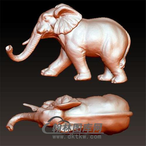 大象立体圆雕图(YBF-005)