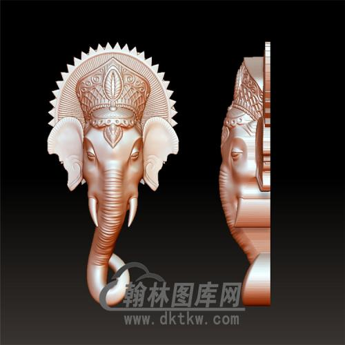 象头立体图圆雕图(YBF-007)