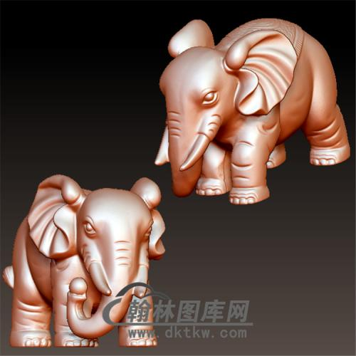 大象立体圆雕图(YBF-009)