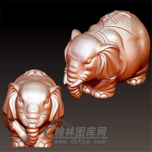 大象立体圆雕图(YBF-008)