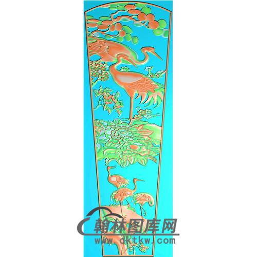 仙鹤棺材顶盖精雕图(GC-008)