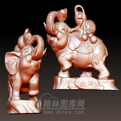 背葫芦的象立体圆雕图(YBF-014)