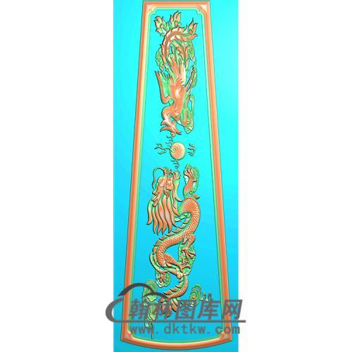 龙凤棺材顶盖精雕图(GC-014)