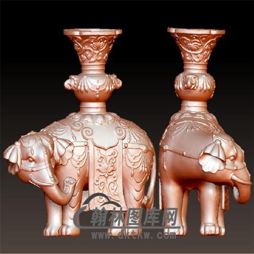 大象立体圆雕图(YBF-016)