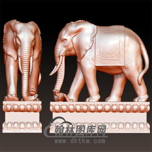 大象摆件立体圆雕图(YBF-017)