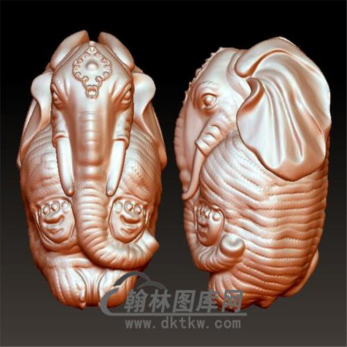 象吉祥立体圆雕图(YBF-018)