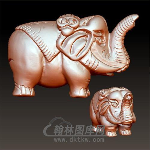 大象摆件立体圆雕图(YBF-020)