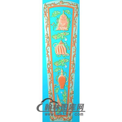 八宝棺材顶盖精雕图(GC-034)