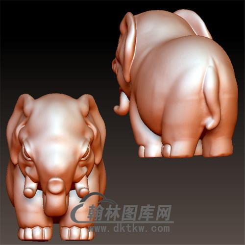 大象立体圆雕图(YBF-022)