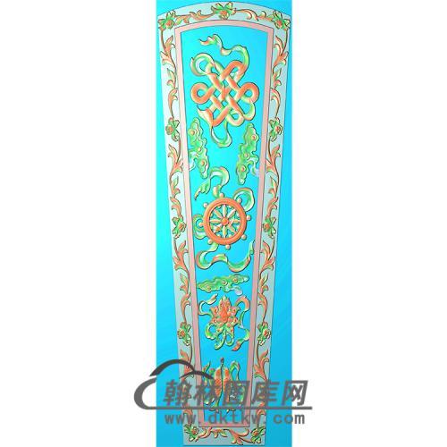 八宝棺材顶盖精雕图(GC-035)