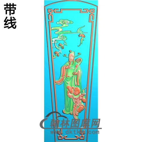福禄寿棺盖精雕图(GC-050)