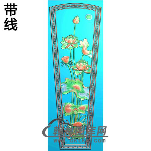 荷花棺材盖精雕图(GC-060)